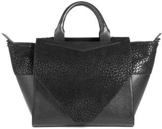 Bracher Emden Structured Black Leather Tote