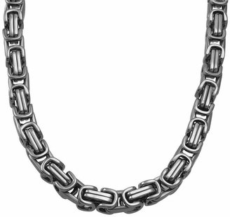 JCPenney FINE JEWELRY Mens Stainless Steel Square Byzantine Chain