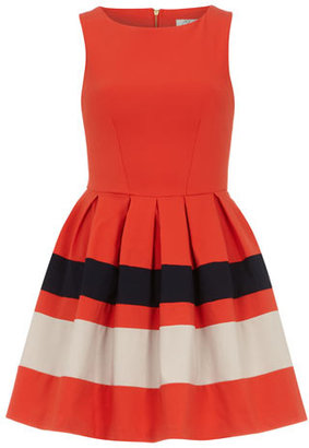 Dorothy Perkins Orange contrast skirt dress