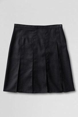 Lands' End School Uniform Women's Tall Box Pleat Skirt (Top of the Knee)