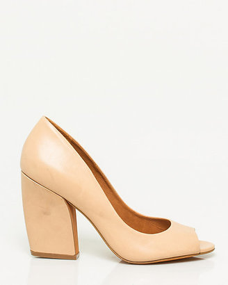 Le Château Brazilian-Made Leather Block Heel Pump