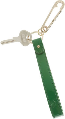 McQ by Alexander McQueen Patent-leather safety pin key fob