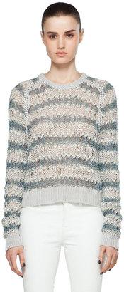 Theyskens' Theory Koro C Sweater in Mint Multi