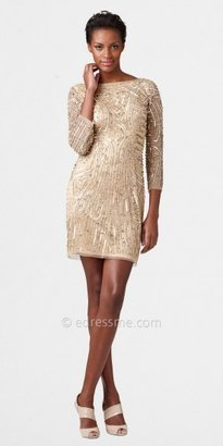 Aidan Mattox Long Sleeve Beaded Cocktail Dresses