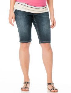 Motherhood Secret Fit Belly® Embellished Pocket Maternity Bermuda Shorts
