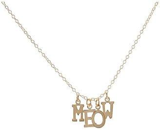 Emily Elizabeth Jewelry - Meow Necklace (14K Gold Plated) - Jewelry