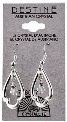 Crystallite Destine Austrian Trefoil Dangle Earrings