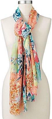 Apt. 9 scribble floral fringed scarf