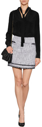 Rachel Zoe Long Sleeve Silk Marin Top