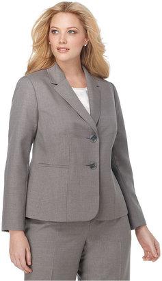 Kasper Plus Size Jacket, Seamed Double Button Suiting