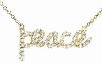 Sydney Evan Diamond Peace Necklace - Yellow Gold