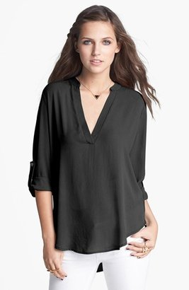 Women's Lush Roll Tab Sleeve Woven Shirt $42 thestylecure.com
