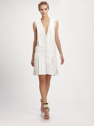 Reed Krakoff Crepe Panel Dress