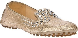 Car Shoe embellished flat shoe