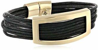 "Kenneth Cole New York Beaded Bracelets"" Rectangle Black Multi-Row Bracelet"