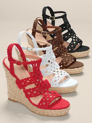Victoria's Secret Collection Woven Espadrille Wedge Sandal