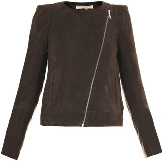 Vanessa Bruno Sharp shoulder biker jacket
