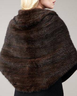 Lanvin Pologeorgis Knit Mink Fur Shawl
