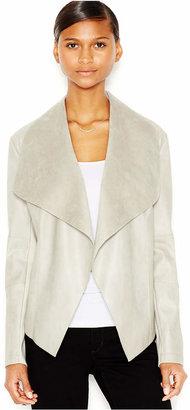 Bar III Flyaway Faux-Leather Jacket