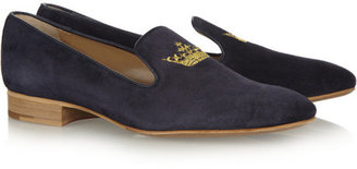 Church's Flora embroidered suede slippers