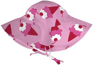 I Play Floppy Brim Sun Protection Hat - Pink Ice Cream-0-6 Months