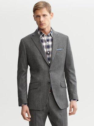Banana Republic Tailored grey tweed two-button suit blazer