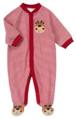 Crazy 8 Reindeer Stripe Snap Footed One-Piece