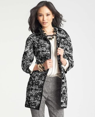 Ann Taylor Abstract Jacquard Coat