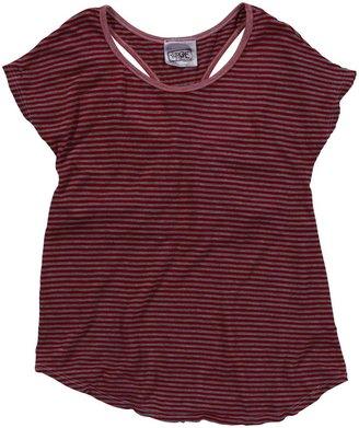Erge Multi Stripe S/S Tee - Red-S 7/8
