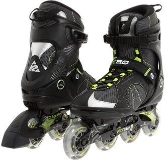 K2 Skates K2 F.I.T 80 (Light Grey/Green Gecko) Men's Wheeled Shoes
