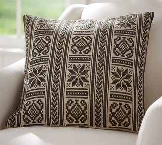 Pottery Barn Martin Embroidered Pillow Cover