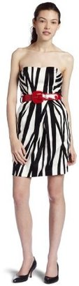 Teeze Me Junior's Belted Strapless Dress