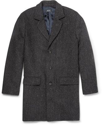A.P.C. Unstructured Harris Tweed Wool Overcoat