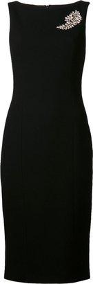 Michael Kors Paisley Brooch Sheath Dress