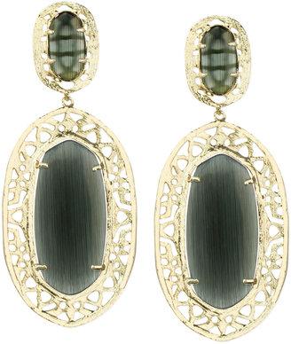 Kendra Scott Darian Scroll-Border Earrings, Black