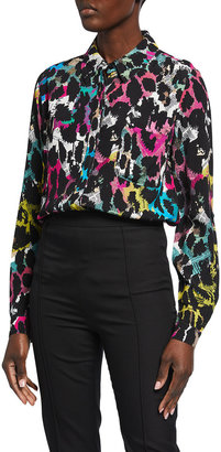 Diane von Furstenberg Lorelei Two Animal-Print Shirt