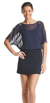 R & M Richards RM Richards R&M Richards Blouson Shutter Skirt Dress