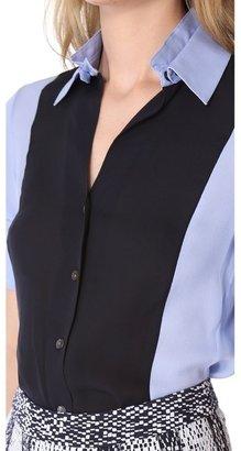 Derek Lam 10 crosby Double Collar Blouse