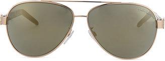 Roberto Cavalli Gorgena Leopard Rose Golden Aviator Sunglasses