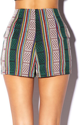 Forever 21 High-Waisted Serape Shorts