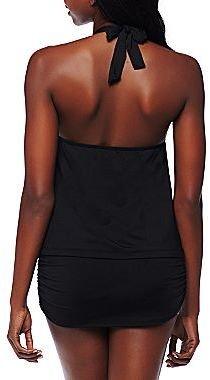 JCPenney Bisou Bisou® Shirred Halterkini, Hipsters, Boyshorts or Swim Skirt