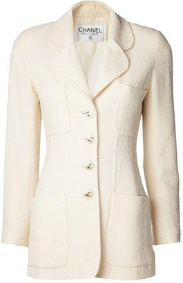 Chanel double collar bouclé jacket