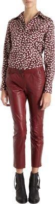 Derek Lam 10 Crosby Leather Cropped Slim Pant