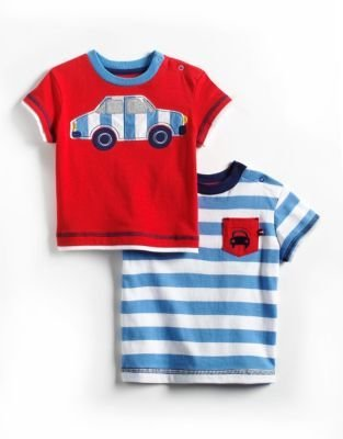 Offspring Baby Boys 12-24 Months Two-Piece Cotton T-Shirt Set