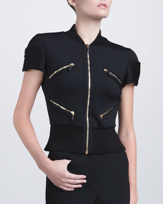 Versace Short-Sleeve Zip Jacket