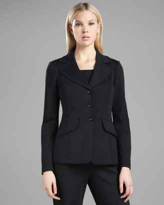 St. John Marocain-Trim Milano Jacket, Caviar