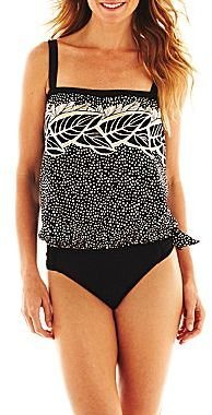 JCPenney Azul by Maxine of Hollywood® Bandeau Blouson Tankini Swim Top