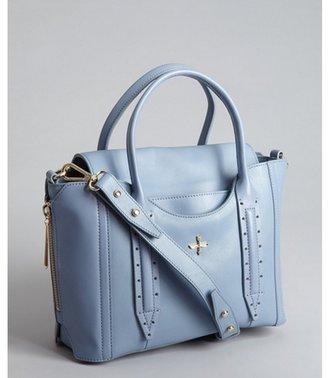 Pour La Victoire storm blue leather 'Provence' convertible satchel
