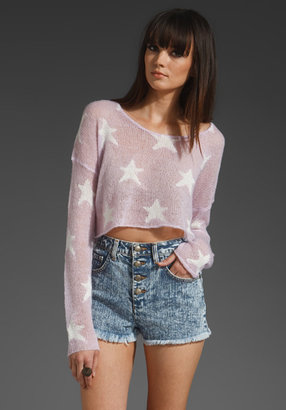 Wildfox Couture Rodeo Star Cropped Sweater