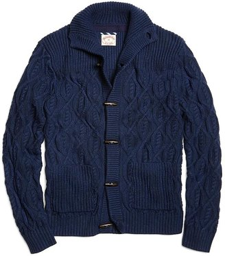 Brooks Brothers Cable Toggle Button Cardigan